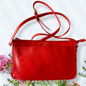 Cole Haan Red Leather Crossbody Purse